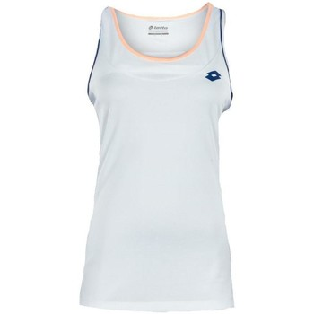 Kleidung Damen Tops Lotto Shela II Tank W Canotta Tennis Deep Dry Tech Bianca Weiss