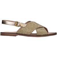 Schuhe Mädchen Sandalen / Sandaletten Florens Z975411D PELLE PLATI Platin