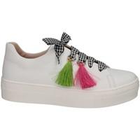 Schuhe Mädchen Sneaker Low Florens Z1467CAM BIANCO Sneaker Kind weiß weiß