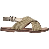 Schuhe Mädchen Sandalen / Sandaletten Florens W875611D PELLE PLATI Sandalen Kind Platin Platin