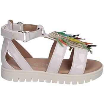 Schuhe Mädchen Sandalen / Sandaletten Florens W0881001 BIANCO/MULT Sandalen Kind weiß weiß