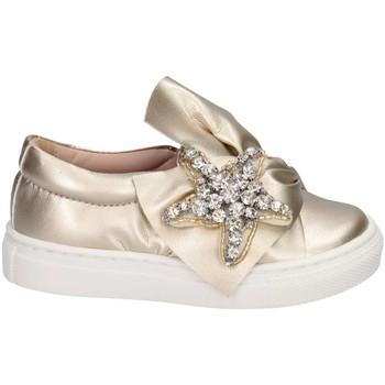 Schuhe Mädchen Slip on Florens W055829D PLATINO Slip On Kind Platin Platin