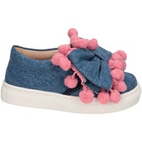Schuhe Mädchen Slip on Florens W055327I JEANS/ROSA Slip On Kind Jeans Jeans