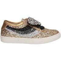 Schuhe Mädchen Sneaker Low Florens F66851-2 ORO/MIX Sneaker Kind Gold Gold