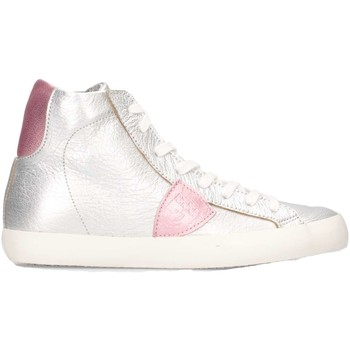 Schuhe Kinder Sneaker High Philippe Model CLH0-M46C Silber