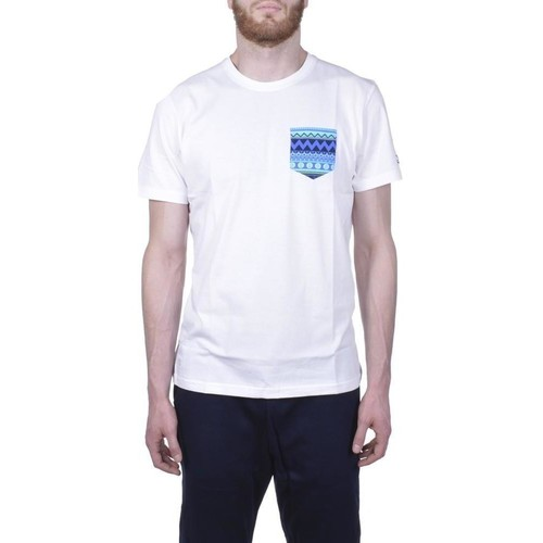 Kleidung Herren T-Shirts New Era Native Pocket Tee Bianca Weiss