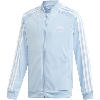Kleidung Jungen Trainingsjacken adidas Originals SUPERSTAR TOP GIACCHETTO CELESTE Blau