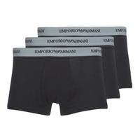 Unterwäsche Herren Boxer Emporio Armani CC717-PACK DE 3 Schwarz