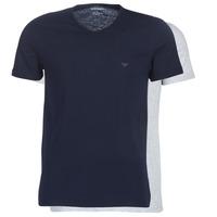 Kleidung Herren T-Shirts Emporio Armani CC722-111648-15935 Marine / Grau