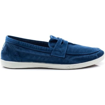 Schuhe Damen Slipper Natural World 316-E blau