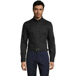 Kleidung Herren Langärmelige Hemden Sols BUSSINES MODERN MEN Negro