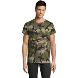 Kleidung Herren T-Shirts Sols CAMOUFLAGE DESIGN MEN Verde