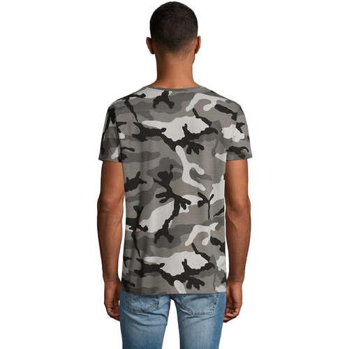 Sols CAMOUFLAGE DESIGN MEN Gris - Kostenloser Versand |  - Kleidung T-Shirts Herren 1600 TfeXR