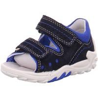 Schuhe Jungen Babyschuhe Superfit Sandalen FLOW 0-800030-8100 8100 blau