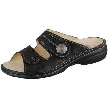 Schuhe Damen Pantoffel Finn Comfort Pantoletten SANSIBAR 02550644144 644144 schwarz