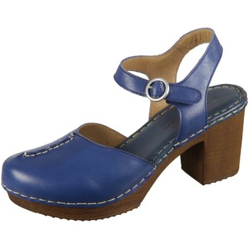 Schuhe Damen Pantoletten / Clogs Ten Points Pantoletten Amelia 6 517010-703 darkblue Leather 517010-703 blau