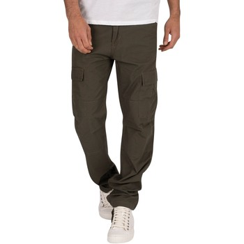 Kleidung Herren Jogginghosen Carhartt Work In Progress Herren Gespülte Aviation Slim Fit-Ladungen, Grün grn
