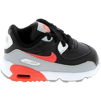 Schuhe Kinder Sneaker Low Nike Air Max 90 lea BB Gris Rouge 833416-024 Grau