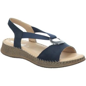 Schuhe Damen Leinen-Pantoletten mit gefloch Jenny By Ara Sandaletten Casablanca -G- 22.17914.02 blau