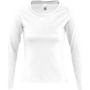 Kleidung Damen Langarmshirts Sols MAJESTIC COLORS GIRL Blanco