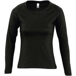 Kleidung Damen Langarmshirts Sols MAJESTIC COLORS GIRL Negro
