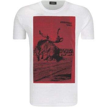 Kleidung Herren T-Shirts Dsquared S71GD0712 Weiss