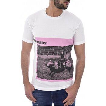 Kleidung Herren T-Shirts Dsquared S71GD0713 Weiss