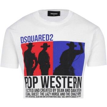 Kleidung Herren T-Shirts Dsquared S71GD0720 Weiss