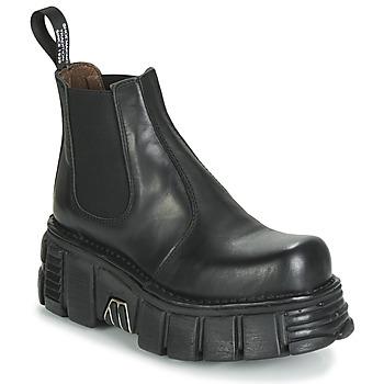 Schuhe Damen Boots New Rock M-1554-C1 Schwarz