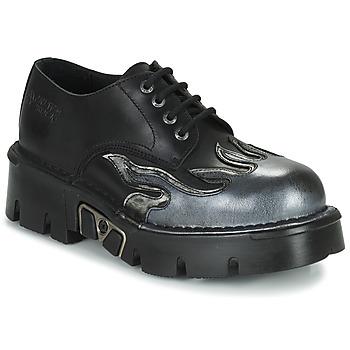 Schuhe Herren Derby-Schuhe New Rock M-1553-C3 Schwarz