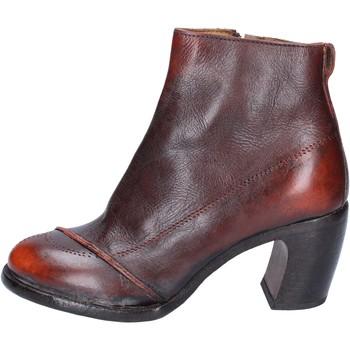 Schuhe Damen Low Boots Moma stiefeletten leder orange