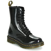 Schuhe Damen Boots Dr Martens 1490 PATENT LAMPER Schwarz