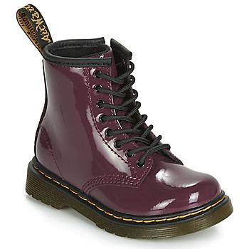 Schuhe Mädchen Boots Dr Martens 1460 PATENT TODDLER Violett