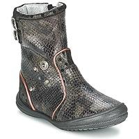 Schuhe Mädchen Klassische Stiefel Catimini CLABAUD Bronze / Schwarz