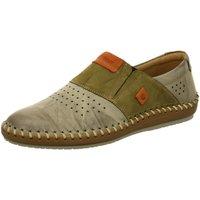 Schuhe Damen Slipper Krisbut Slipper Slipper in Grau-Kombination 5164-1 oliv