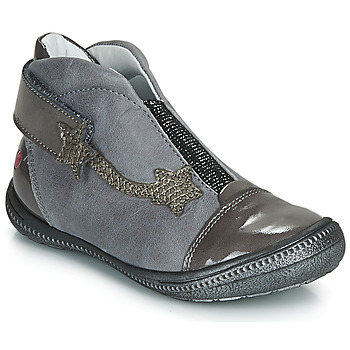 Schuhe Mädchen Boots GBB NOLWENN Grau / Silbern