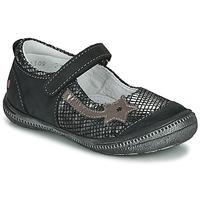 Schuhe Mädchen Ballerinas GBB NYOKO Schwarz / Silbern