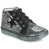 Schuhe Mädchen Sneaker High GBB LETO Schwarz / Silbern
