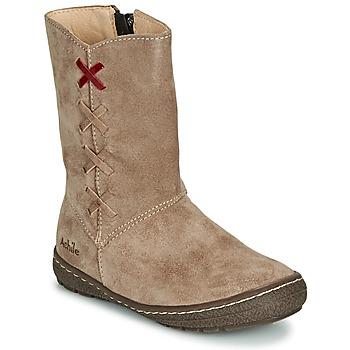 Schuhe Mädchen Klassische Stiefel Achile SOFIA Beige