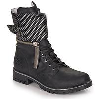 Schuhe Mädchen Klassische Stiefel Ikks PEGGY Schwarz