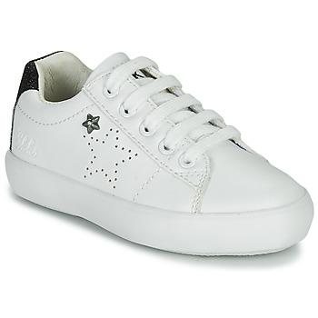 Schuhe Mädchen Sneaker Low Ikks MOLLY Weiss / Schwarz