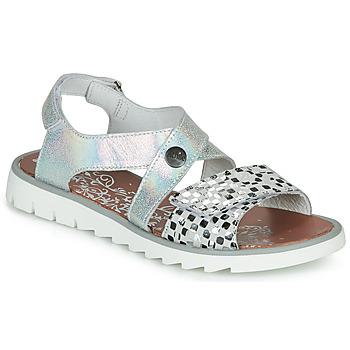 Schuhe Mädchen Sandalen / Sandaletten Achile HIKARI Silbern