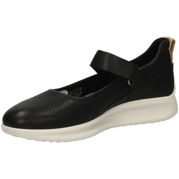 Schuhe Damen Ballerinas Ecco AQUET LADIES black-nero