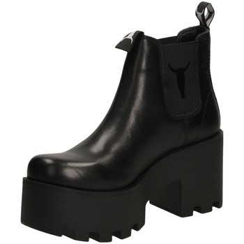 Schuhe Damen Boots Windsor Smith HELSINKI black-nero