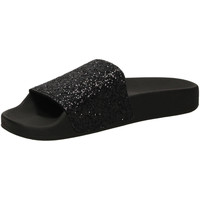 Schuhe Damen Pantoletten The White Brand GLITTER black-nero