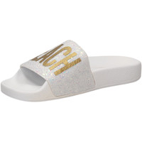Schuhe Damen Pantoletten The White Brand GLITTER BEACH PLEASE white-bianco