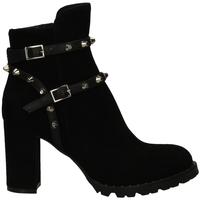 Schuhe Damen Boots Mivida CAMOSCIO/NAPPA nero-nero