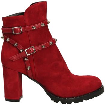 Schuhe Damen Boots Mivida CAMOSCIO/NAPPA rosso-rosso