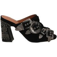 Schuhe Damen Pantoffel Jeffrey Campbell JCS FANTA-JWL SUEDE black-nero
