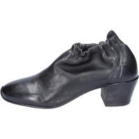 Schuhe Damen Low Boots Moma stiefeletten leder schwarz